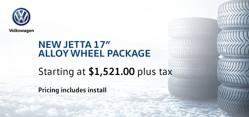 New Jetta 17s Alloy Winter Tire Offer